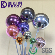 Chromed Finish Colorful Seamless Plastic Hollow Christmas Ball Decoration Ornament