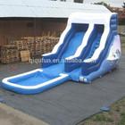 tamanho família inflável water slide com piscina para crianças