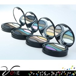 private label natural cosmetics 4 color eyeshadow with round shape