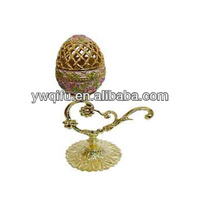 China supplier Faberge egg trinket boxes for Jewellery necklace earing ring (QF910)