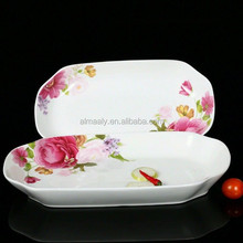 Large disgusts rectangle plate microwave oven fish plate ceramic china dish plate