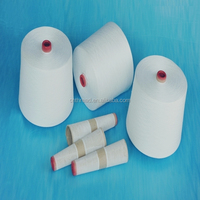 raw white sewing thread in abundant supply