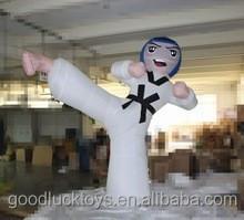 Advertsement decoración inflable Taekwondo de dibujos animados