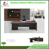 China manufacturer L-shape Annie executive desk manager desk office boss table with MFC desktop & aluminum legs