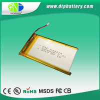 UL approved flat li ion battery 2300mah 3.7V