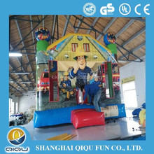 commercial hot selling kids jumping castle, inflatable bouncer with slide for amusement park