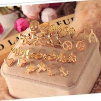 RS-ZN0163 Simple wish peace stud earrings Skull earrings Wholesale American Earring Best Products