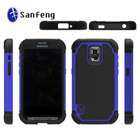 For galaxy samsung s5 active G870 football hybird cellphone case;ballistic faceplate skin shell cover for s5 active G870