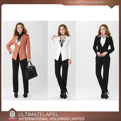 Custom bespoke slim fit design womens casual dress suit for spring