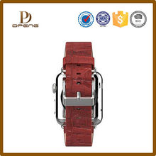 interchangeable steel buckle 20mm mens watches leather strap band