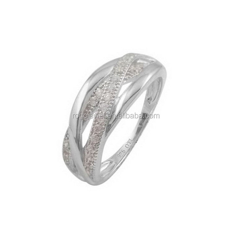 contemporary best sell cz rings 925 silver ring