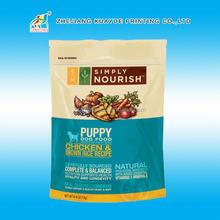 Food Grade Ziplock Plastic Pet Food Bag,Custom Food Packaging Bag With Zipper,Soft Pet Food Bag For Packing