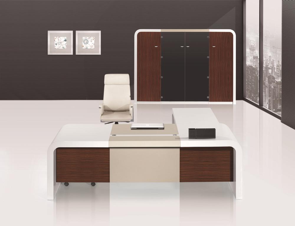 2015 gloss white modern furniture office table design photo latest