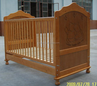 NZ Pine solid wood baby cot baby bed baby crib toddler bed