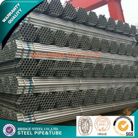 building material Galvanized Round Steel Pipe low pressure water delivery pipe