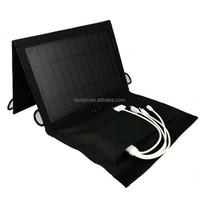 7w folding solar panel phone charger bag