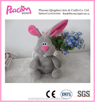 2015 HOT Selling Plush Bunny in Gray for Kids in New Shape