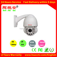 2.0MegaPixel 10X Optical Zoom H264 indoor/outdoor 1080P mini IP High speed dome PTZ camera