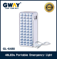 48pcs led light,rechargeable emergency light,use transformer charging and sealed lead acid battery