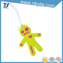 dots luggage tags bright color
