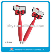 2013 hot sale fashion cartoon ball pen for school