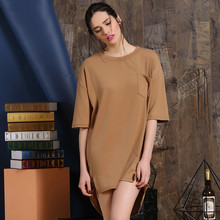 Womens Short Sleeve Dress Causal Long T-Shirt Dress Ladies Clothing Manufacturer OEM Type Factory Supplier From Guangzhou