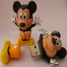 divertido de dibujos animados de mickey mouse usb flash drive