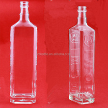 printed high quality And Shaped Fashion alcohol glass bottle 1 Liter