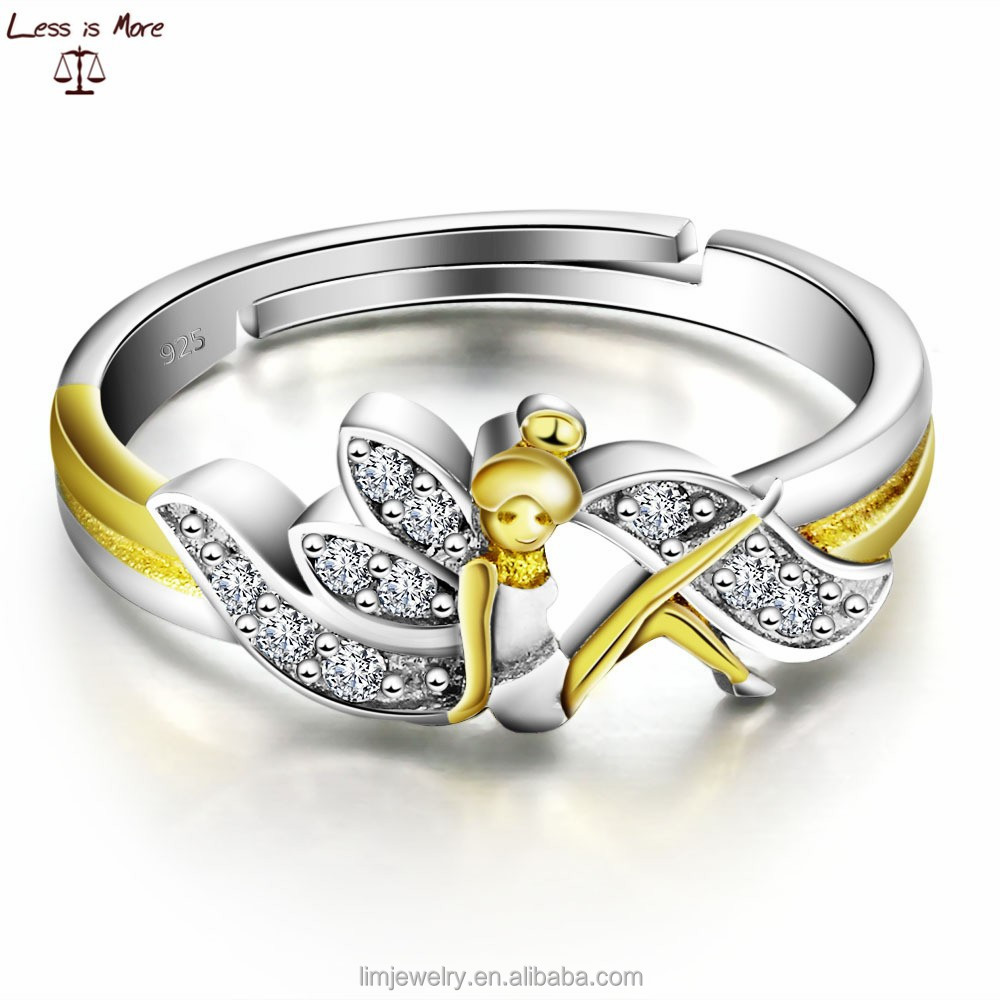 Silver Amp Gold Double Plated Ring Italina Costume Zircon Jewelry