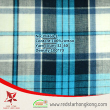 Soft 100% cotton check drapery fabric for t shirt