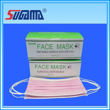 China single use surgical pink color face mask with elastic