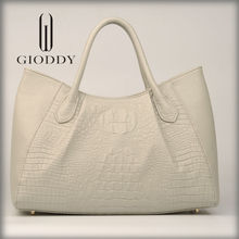 Wholesale white customized size best design pu leather women bag