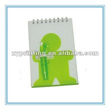 Lovely Plastic Cover YO Wire Binding Mini Notebook with Pen