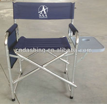 Foldable director chair with side table