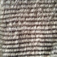 Stripe long hair fake fur, stripe fur fabric, stripe fox fur