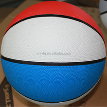 Best quality best sell official pink rubber basketball 2015