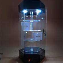 Store dedicated cabinets acrylic aotating shelf display case reveal ark organic polymer plastics show shelf