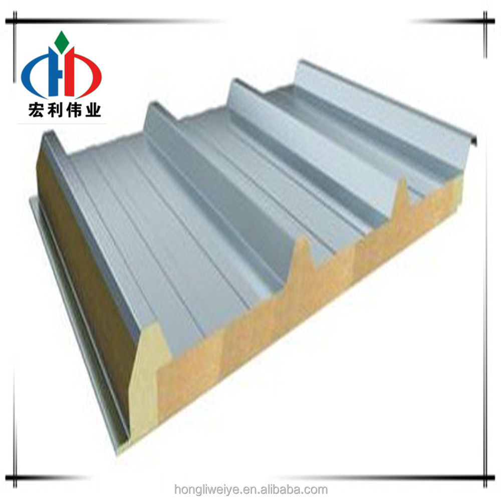 Fireproof Rock Wool Sandwich Panel Rockwool Sandwich Panel