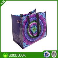 green reusable pp woven bulk reusable shopping bags