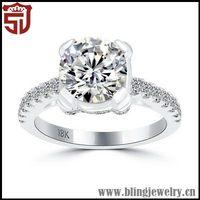 Branded Design Silver Slim Ring