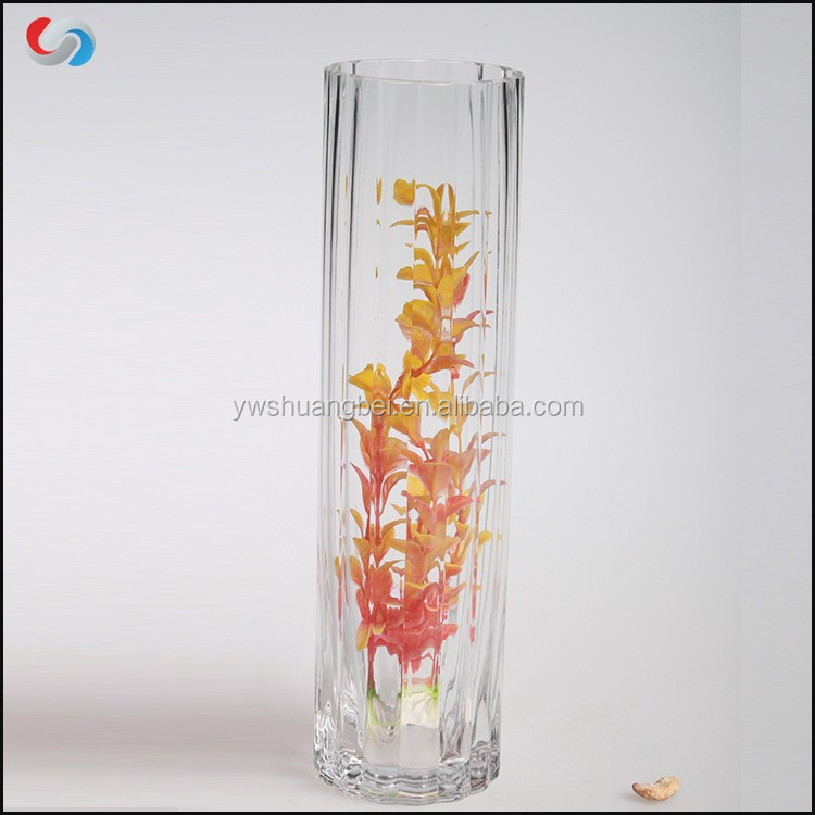 Wholesale cheap clear tall glass cylinder vases for