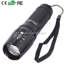 Zoom flashlight five Modes Zoomable XML T6 LED Flashlight Factory provide