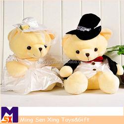 Factory direct bulk sale plush teddy bear with pink scarf