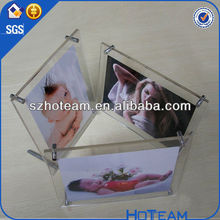 Friends Forever' w/Acrylic Flowers & 4 mm Crystals Picture / Photo Frame acrylic box picture frame acrylic clear photo frame