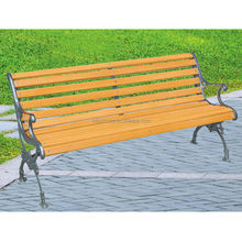 Boutique outdoor furniture wooden patio bench with backrest and handrest