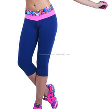 Custom New Design Yoga Fitness Capri Pants Wholesale Running Apparel
