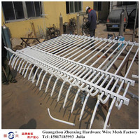 Guangzhou supplier wholesale different types of wrought iron fence panels ZX-XGHL08