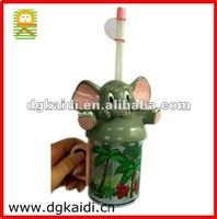 Hot!! Plastic elephant shape personalized cup for kids