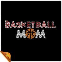 Wholesale Basketball Mom Hotfix Rhinestone Transfer for T-shirts