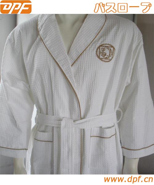 日本 ホテルタイプ ワッフル ショールカラー バスローブ